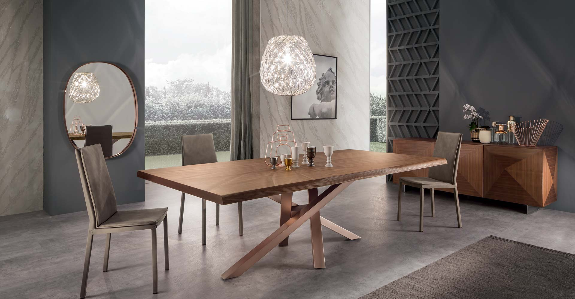 Tables for Tavolo riflessi living